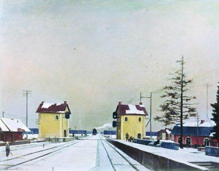 georgiy-nisskiy-stantsiya-podsolnechnaya-1951-god