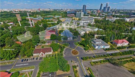 «Город героев» на месте участка образцовых зданий советской деревни