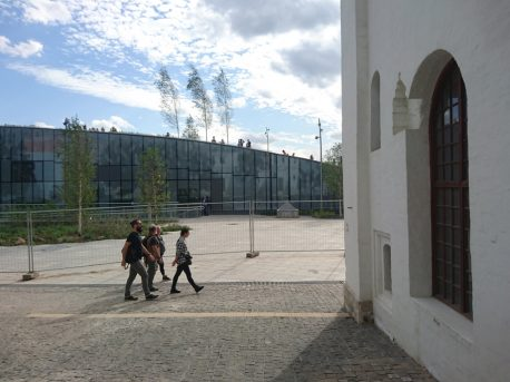 Северный фасад здания парка