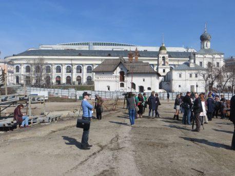 Вид на памятники Варварки до строительства парка