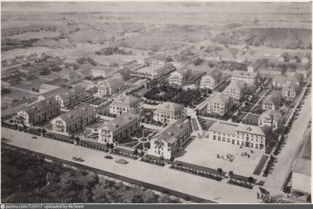 жилой городок Главнефтегазстроя проектная аксонометрия 1947
