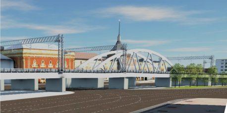Проектируемая эстакада. Вид на фоне Казанского вокзала