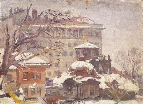 А.В. Ванециан. «Верхняя Масловка. Этюд». 1942