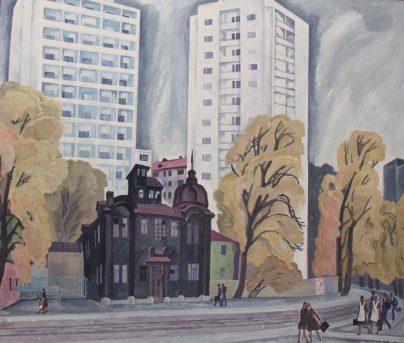 М. Финогенова. «Cентябрь в Москве. (Верхняя Масловка)». 1977