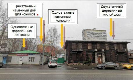 Бывшее владение А.А. Гильбих, вид с улицы Верхняя Масловка, 2019 г.