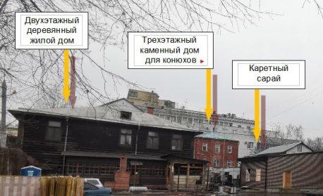 Бывшее владение А.А. Гильбих, вид с восточной стороны(ул. Верхняя Масловка слева), 2019 г.
