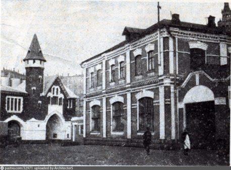 Бондарная и весовая. Вид с территории завода (после 1910 г.)