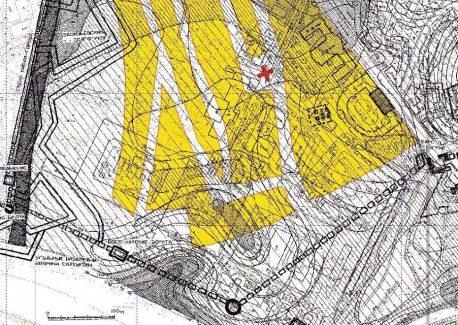 Реконструкция планировки территории, ныне занимаемой Воспитательным домом, в XVII веке Схема ЦИГИ.