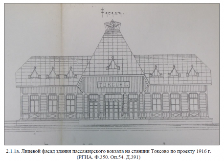 Вокзал Токсово - проект 1916 года