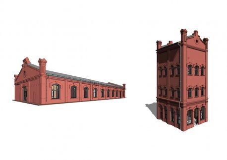 Фасады сохраняемых методом передвижки зданий