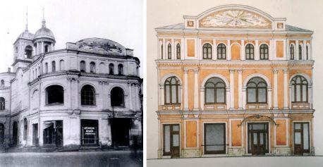 """Южный фасад корпуса Теплых рядов, который хотят принести в жертву """"исконному образу"""" Ильинской церкви"""