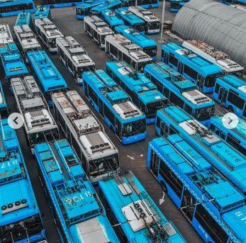 Московские троллейбусы в ожидании раздачи в регионы, 7-й троллейбусный парк, 25 августа 2020