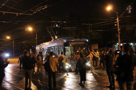 Обними троллейбус - пришёл последний троллейбус маршрута М4