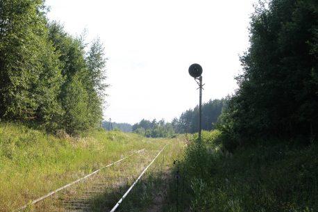 Скакулино, недействующий предупредительный светофор со стороны Селижарова