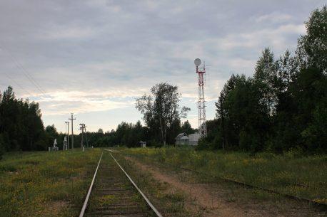 Скакулино, новый вид станции с мачтой
