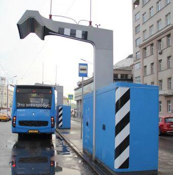 Зарядная станция для электробусов у к/т «Ударник»