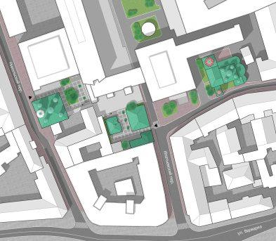 Генплан места расположения палат в 17 в., подготовлен по заказу команды проекта восстановления палат