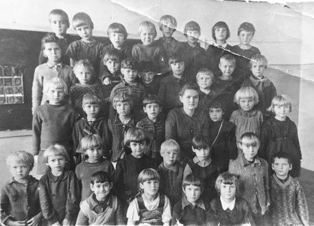 Женская школа 650, 1 класс, 1946 г.