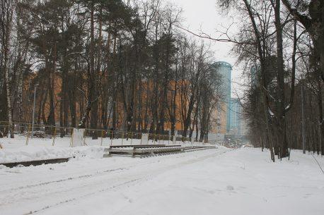 Авиационная улица, район метро Щукинская, ремонт путей