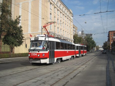 Двусторонний трамвай на Лесной улице