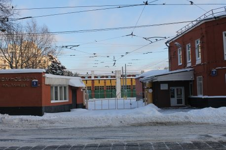Трамвайное депо им. Апакова, январь 2021