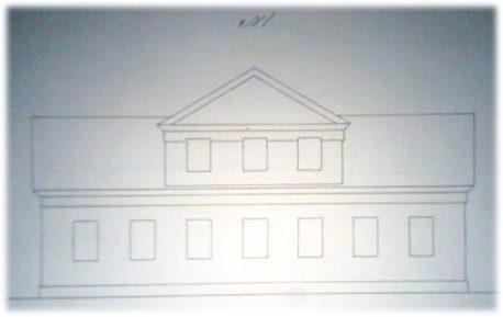 «Секретный» план фасада 1892 г. из архива